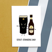'Stoutstanding Dad' Funny Father's Day Card