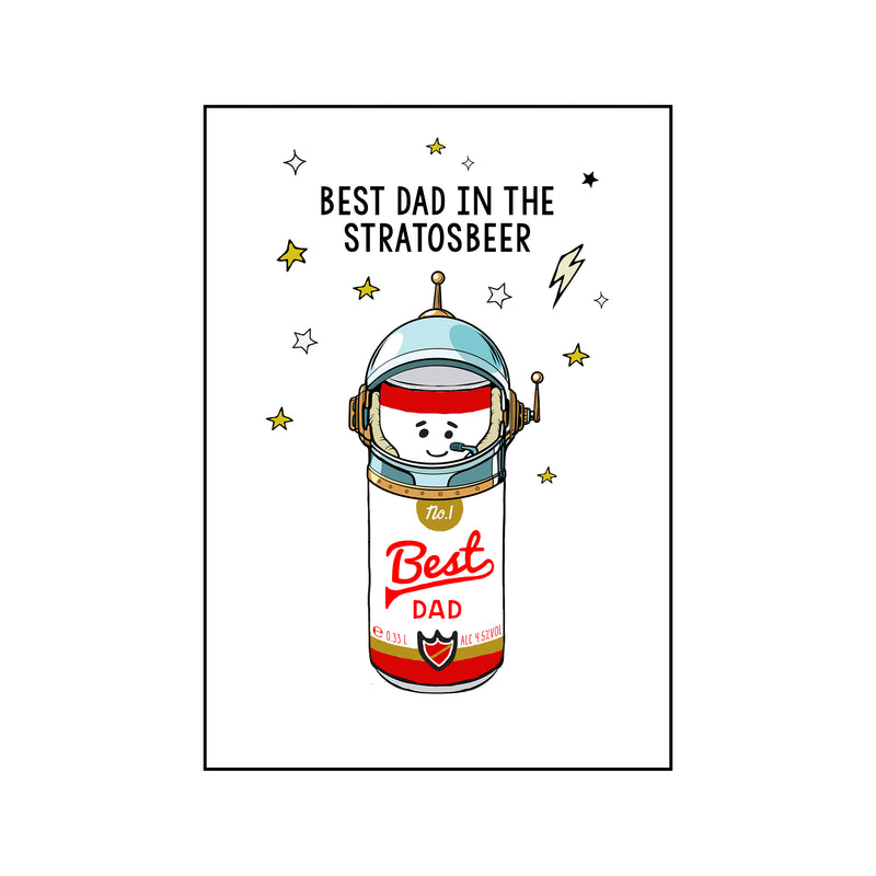 Funny Beer 'Best Dad' Card-A4 Print-Of Life & Lemons®