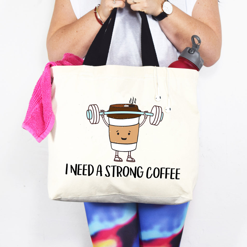 'Strong Coffee' Tote Bag-Tote Bag-Of Life & Lemons®