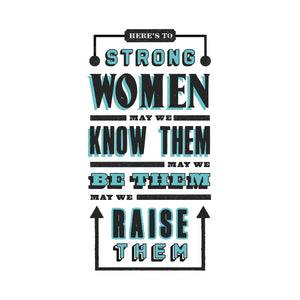 'Strong Women' Typography Print-Of Life & Lemons®