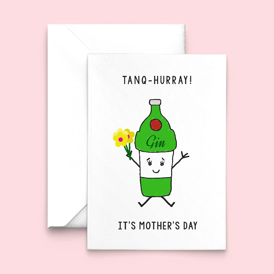 Funny Gin Mother's Day Card