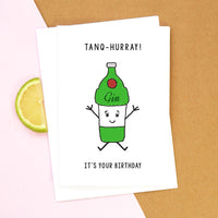 Funny Gin Birthday Card-A4 Print-Of Life & Lemons®
