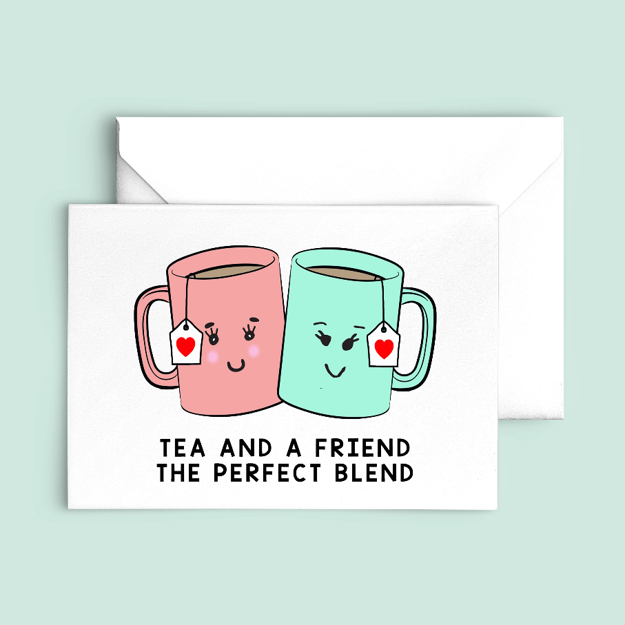 'Tea and a Friend' Card