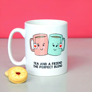 'Tea And A Friend' Mug-Of Life & Lemons®