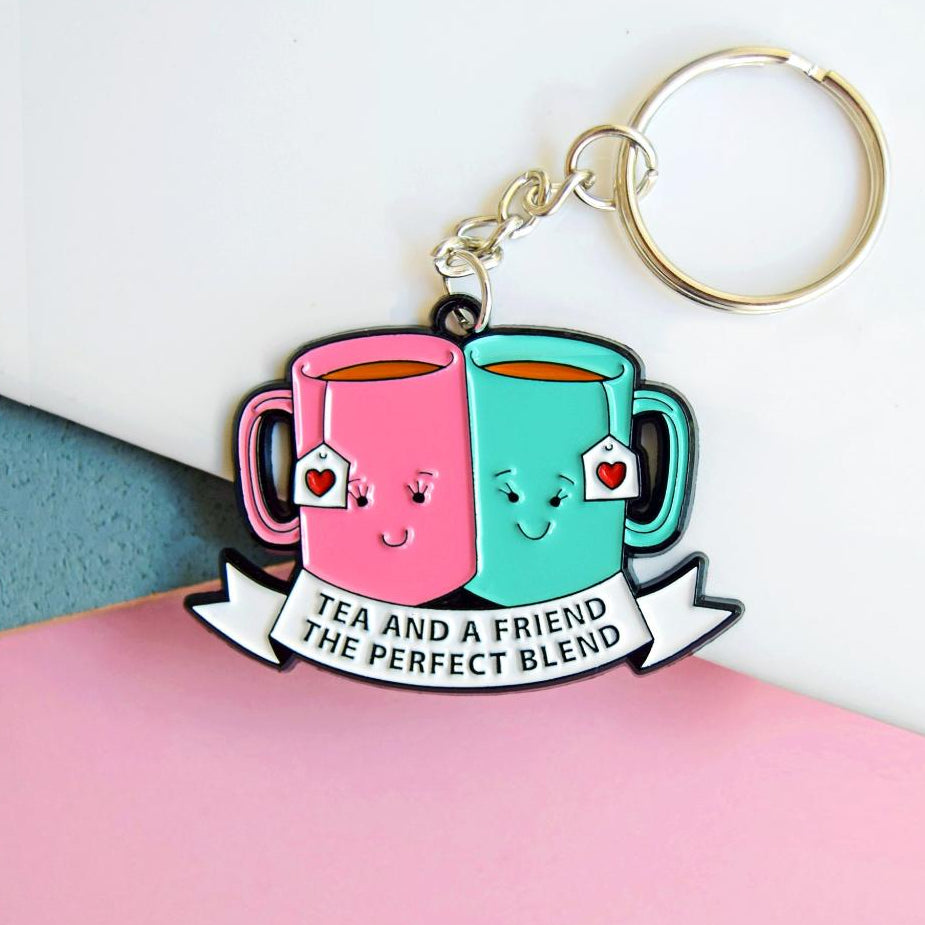 'Tea and a Friend' Keyring-Of Life & Lemons®