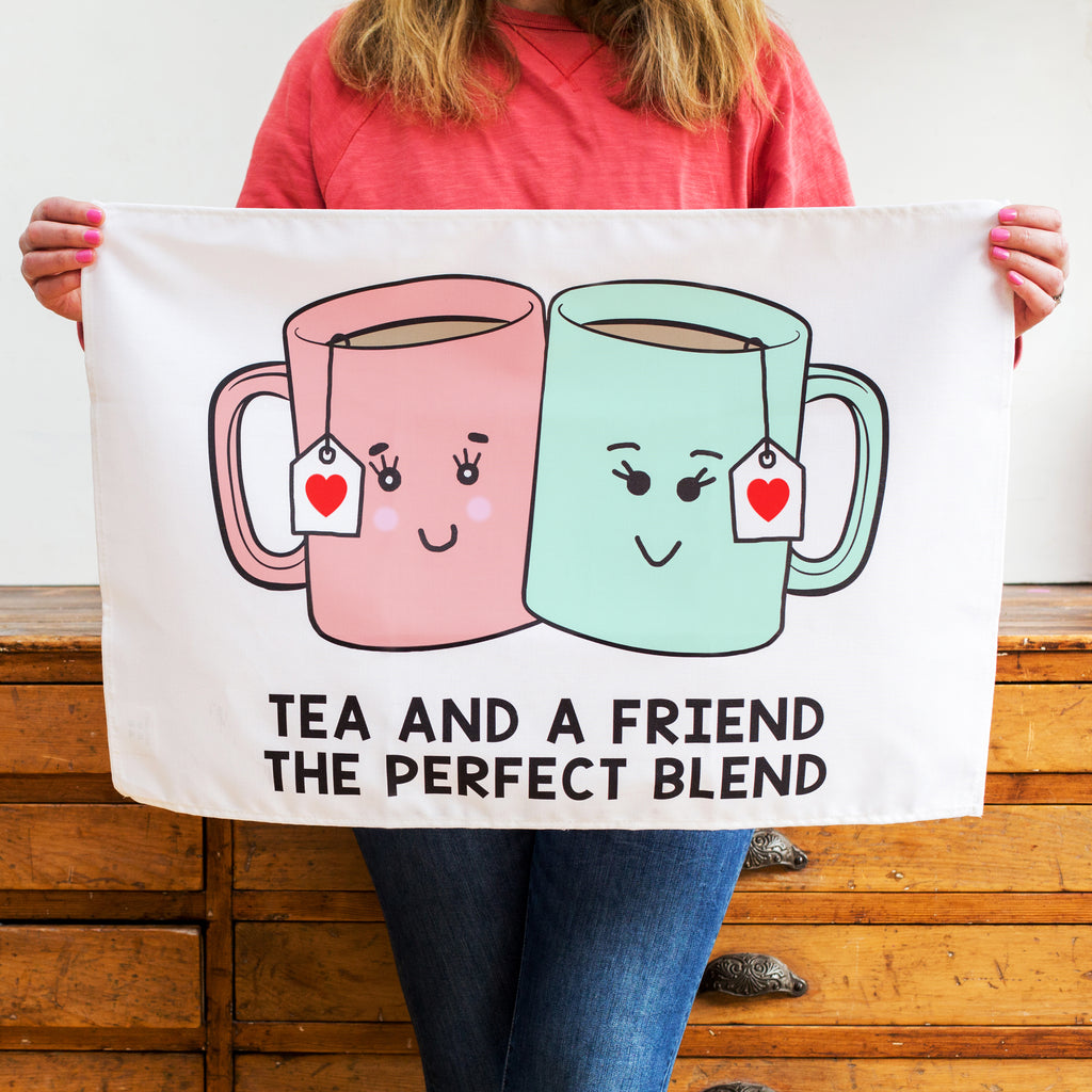 'Tea And A Friend' Tea Towel