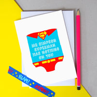 Personalised 'Superman' Card for Teacher-A4 Print-Of Life & Lemons®