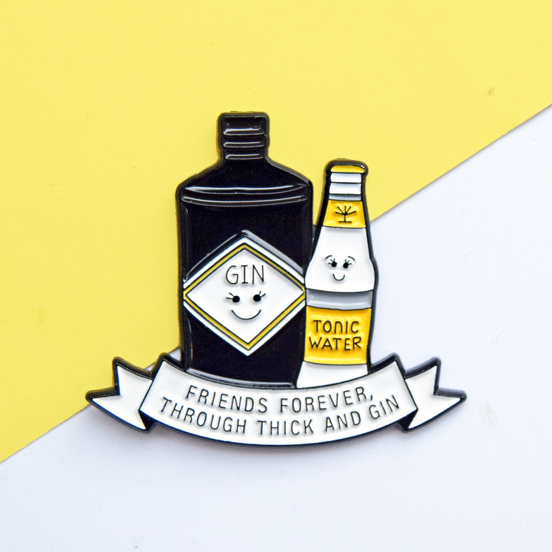 'Thick & Gin' Friendship Enamel Pin Badge-Of Life & Lemons®