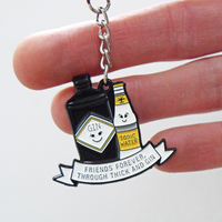 'Thick & Gin' Friendship Keyring-Of Life & Lemons®