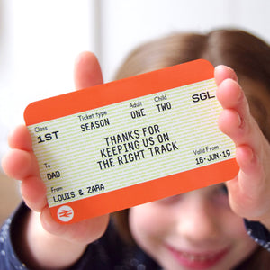 Personalised Train Ticket Wallet Keepsake for Dad-Keyring-Of Life & Lemons®