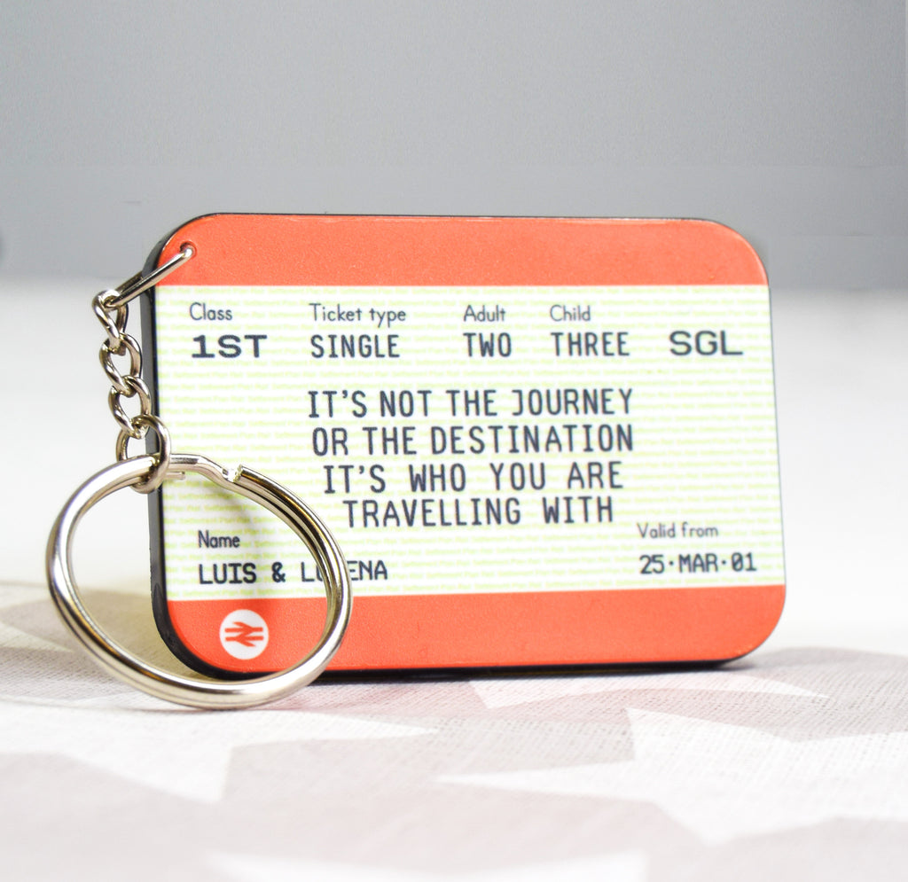 Personalised Train Ticket Keyring-Keyring-Of Life & Lemons®