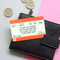 Personalised Train Ticket Wallet Keepsake-Keyring-Of Life & Lemons®