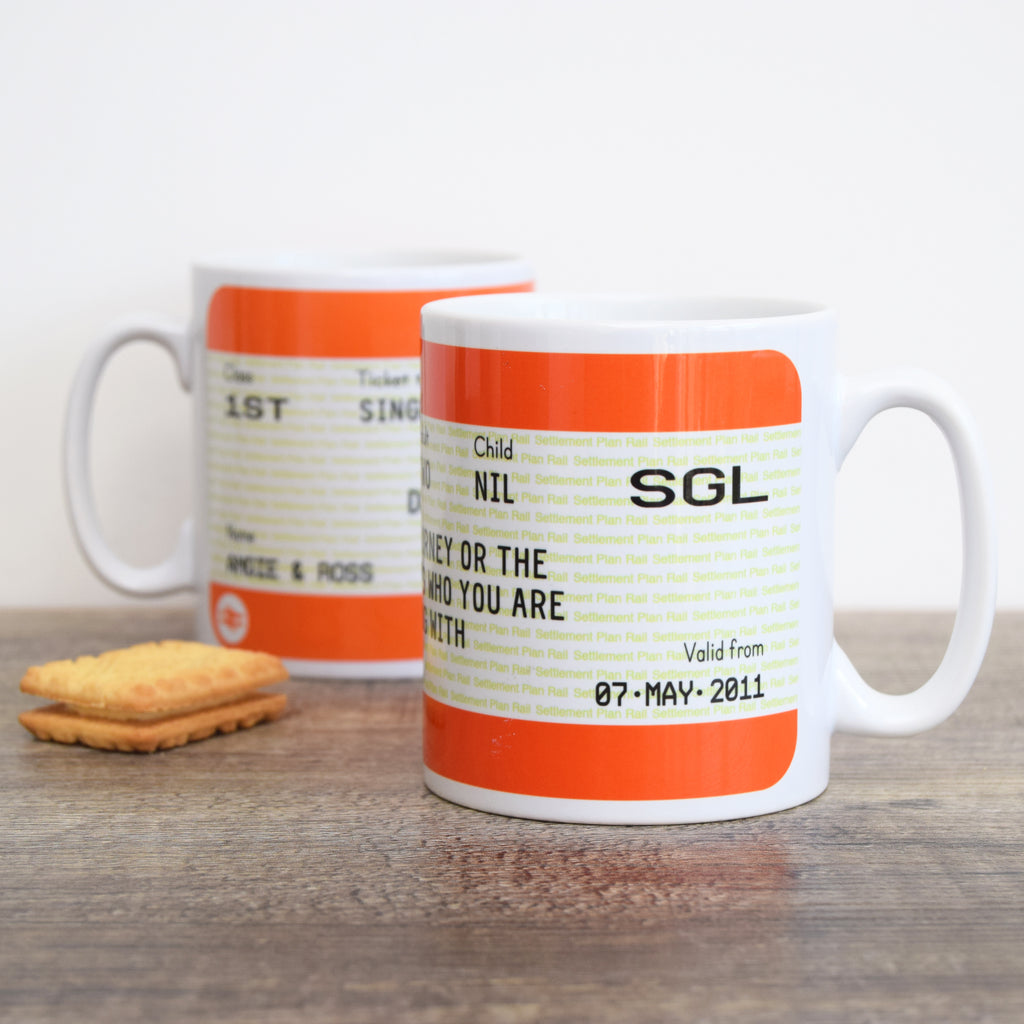 Personalised Train Ticket Mug-Of Life & Lemons®