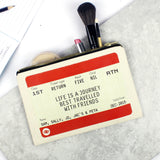 Personalised Train Ticket Friendship Pouch