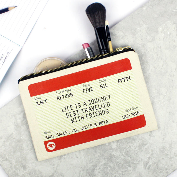 Personalised Ticket Make Up Bag Gift for Friends-Tote Bag-Of Life & Lemons®