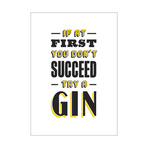 'Try a Gin' Print-A4 Print-Of Life & Lemons®