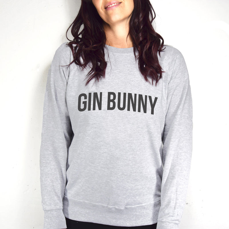 Typographic 'Gin Bunny' Women's Sweatshirt-Tote Bag-Of Life & Lemons®