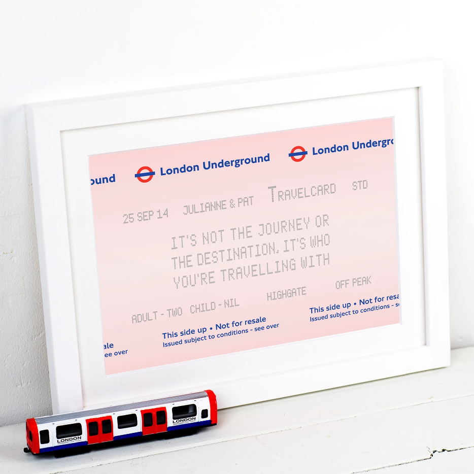 Personalised London Underground Print