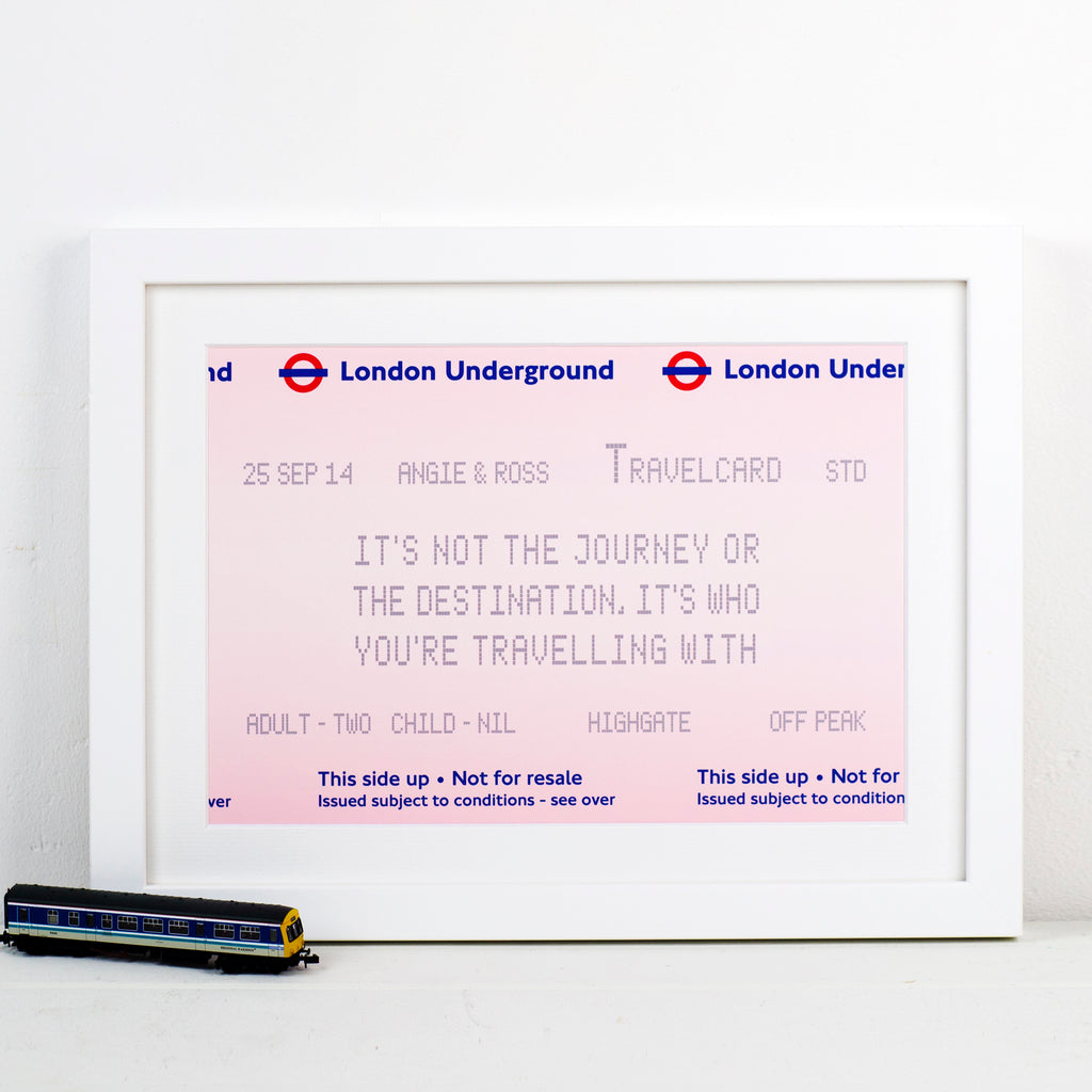 Personalised London Underground Print-A4 Print-Of Life & Lemons®
