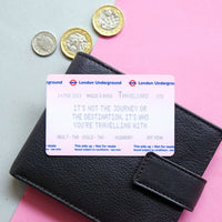 Personalised London Underground Ticket Wallet Keepsake-Keyring-Of Life & Lemons®