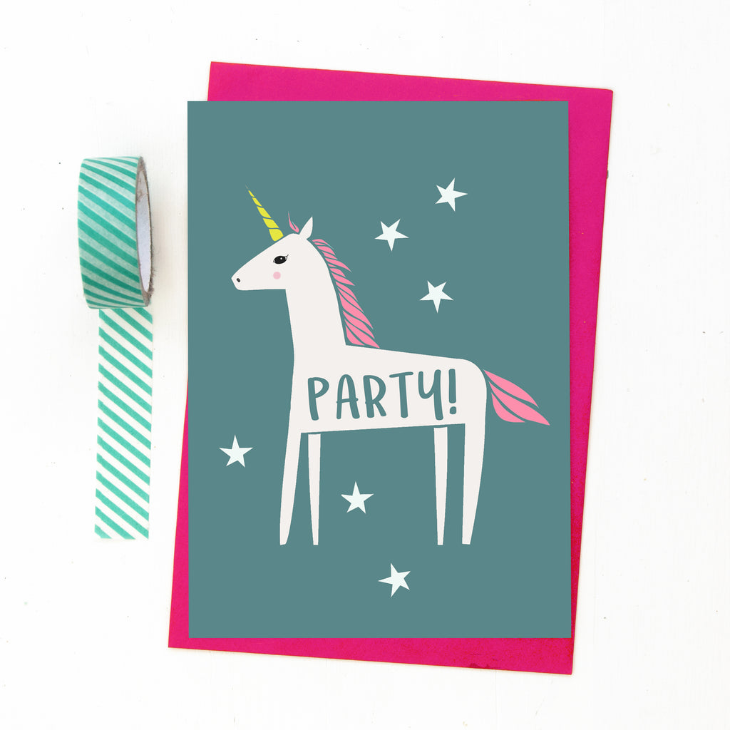 Unicorn Party Invitations-Of Life & Lemons®