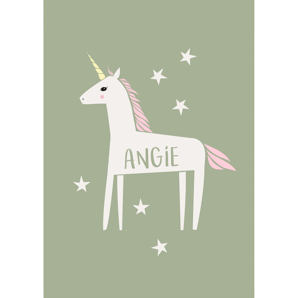 Personalised Unicorn Print-A4 Print-Of Life & Lemons®