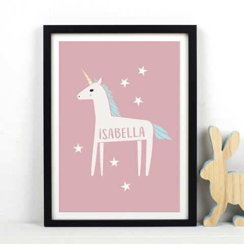 Personalised Unicorn Print