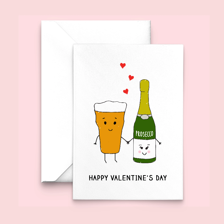 Personalised Drinks Valentine's Card-Of Life & Lemons®