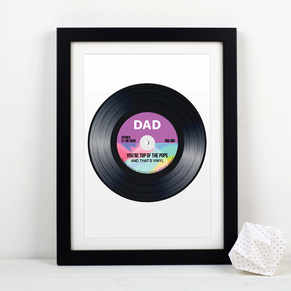'Top Of The Pops' Vinyl Print for Dad