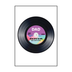 Funny Vinyl Father's Day Card