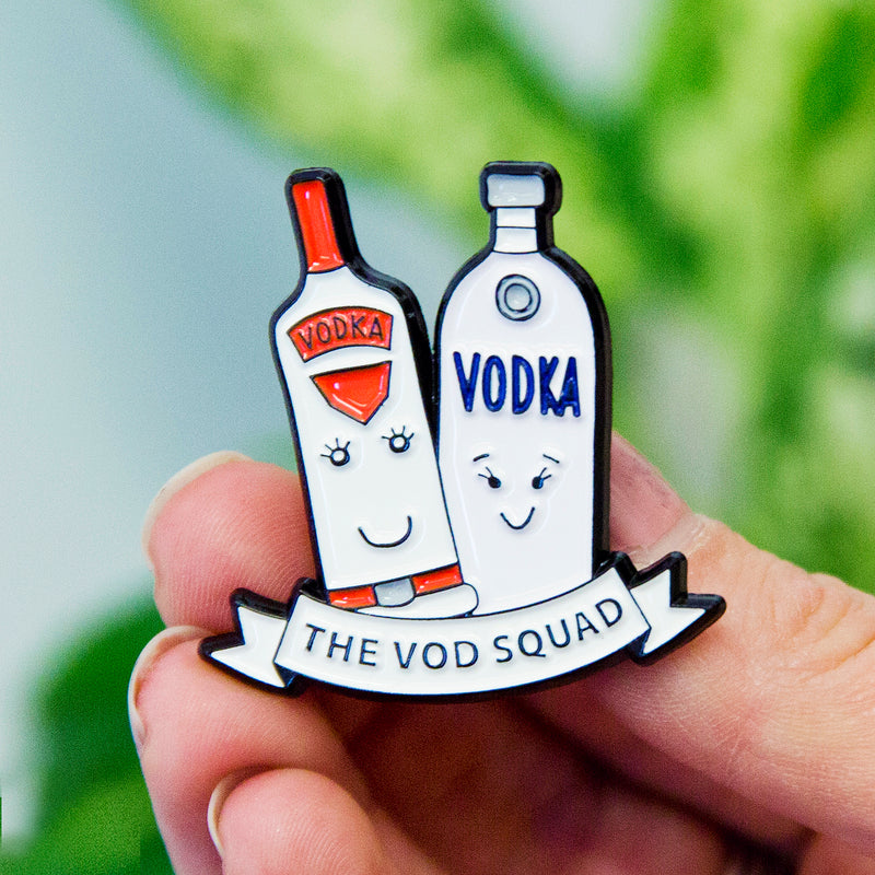 'Vod Squad' Vodka Enamel Pin Badge-Of Life & Lemons®