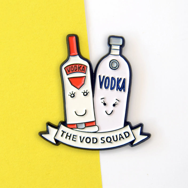 'Vod Squad' Vodka Enamel Pin Badge