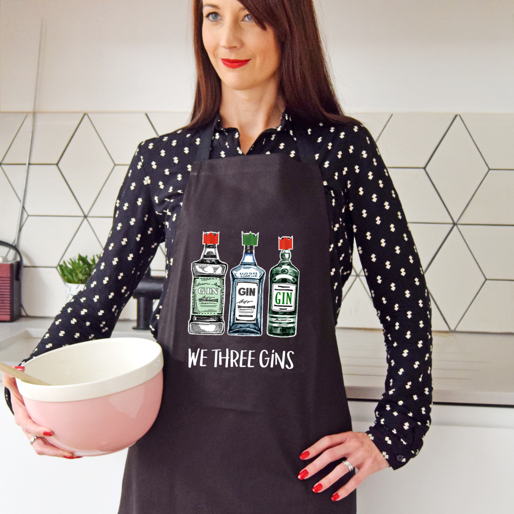 'We Three Gins' Christmas Apron