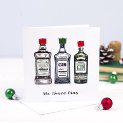 'We Three Gins' Christmas Card
