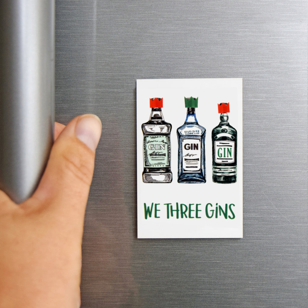 'We Three Gins' Christmas Fridge Magnet-Of Life & Lemons®