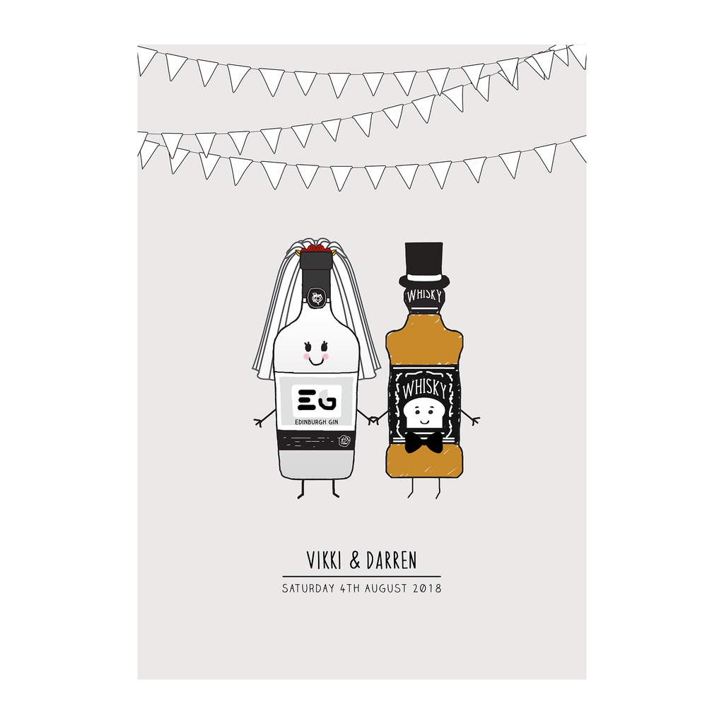 Personalised Bride and Groom Print