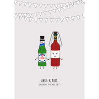 Personalised Bride and Groom Print-Of Life & Lemons®