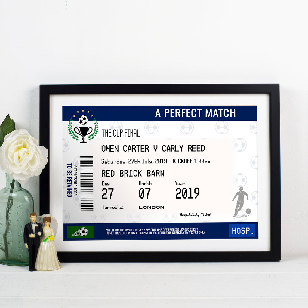 Personalised Football Wedding Print-Of Life & Lemons®