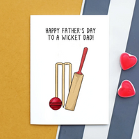 Funny Cricket Father's Day Card