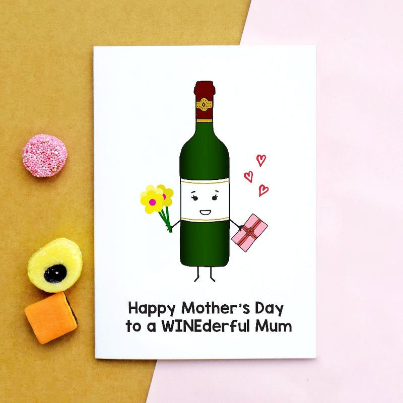 'WINEderful Mum' Wine Mother's Day Card