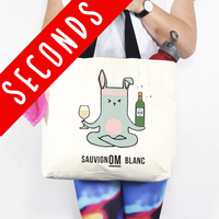 SLIGHT SECOND - Funny Wine/Yoga Bag-Tote Bag-Of Life & Lemons®