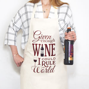 'Given Enough Wine' Apron-Aprons-Of Life & Lemons®
