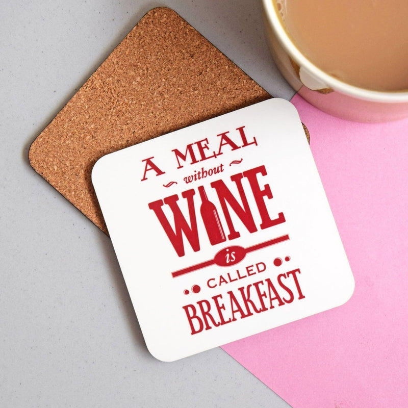 'A Meal Without Wine' Coaster-coaster-Of Life & Lemons®