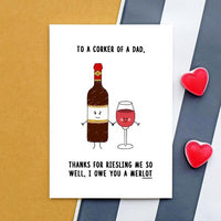 Funny Wine Father's Day Card-A4 Print-Of Life & Lemons®