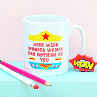 Personalised Superhero 'Thank You Teacher' Mug-Of Life & Lemons®