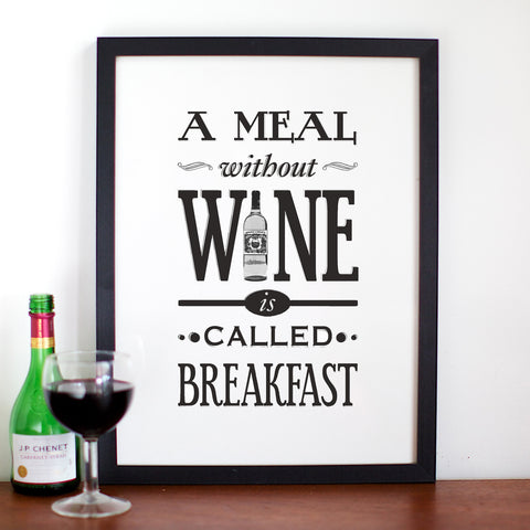 A Meal Without Wine Print