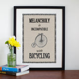 Vintage Bicycle Quote Print