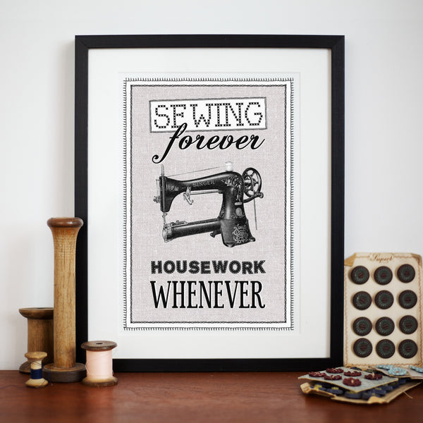 Vintage Sewing Quote Print