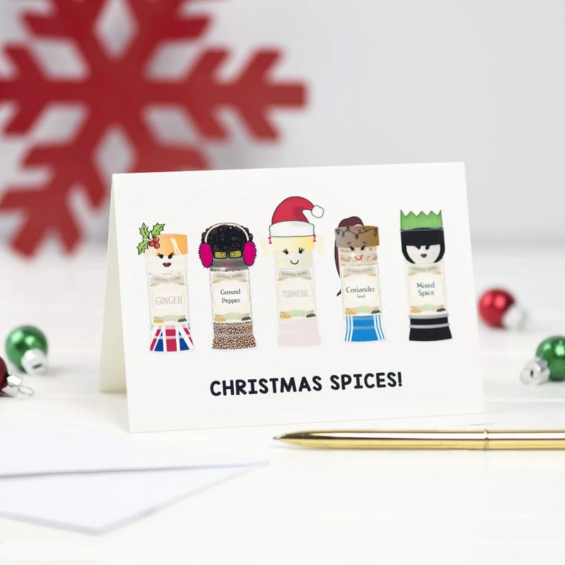 Funny Spice Girls Christmas Card-A4 Print-Of Life & Lemons®
