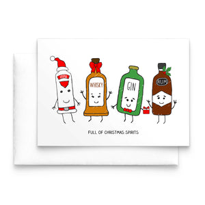 'Christmas Spirits' Christmas Card-A4 Print-Of Life & Lemons®
